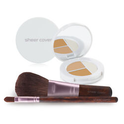 Sheer Cover – Starter Face Kit – Mineral Foundation – Conceal and Brighten Trio $22.00