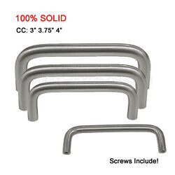 SOLID Brushed Stainless Steel Cabinet Handles Kitchen Bathroom Drawer Pull Knobs