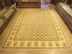 9.4 x 12.3 Hand Knotted High Quality Afghan Sultanabad Veggie Dye Fine Wool Rug