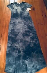 Lularoe Blue Tie Dye Acid Wash Maria Rare Small New  $70.00