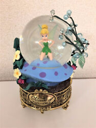 Disney Store US Tinker Bell Gold Platform Snow Glove  Snow Dome Peter Pan