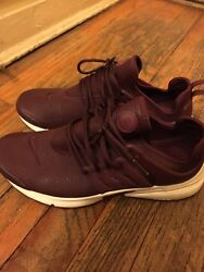 Nike Presto Women Burgundy Leather purple Maroon Size 8 SOLD OUT ONLINE