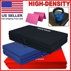 Heavy Duty Folding Mat Thick Foam Fitness Exercise Gymnastics Panel Gym Workout $58.13