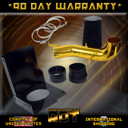 GOLD ESCALADE AVALANCH SILVERADO INDUCTION COLD AIR INTAKE+HEAT SHIELD+FILTER