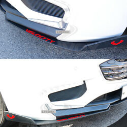 Velocity Front Cup Wing Splitters (2 pcs) for Chevrolet Malibu  [Matte Black]