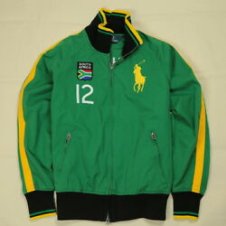 New Ralph Lauren Polo Cotton Track Jacket Yellow Big Pony Green South Africa
