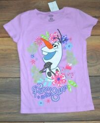 Olaf FUN IN THE SUN Girls T Shirt Officially Licensed Disney FROZEN Merchandise $9.99