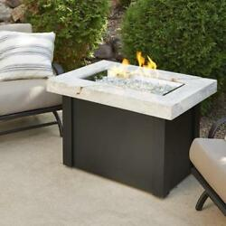 OUTDOOR GREATROOM PROV-1224-WO-K Providence Crystal Fire Pit Table with White