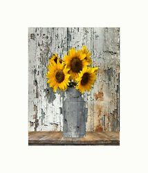 Yellow Brown Rustic Country Farmhouse Kitchen Dinning Room Wall Art Picture