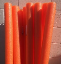 Lot 8x Orange Noodles Swimming Pool Noodle therapy water floating foam craft $17.99