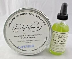 Christophe Pourny Leather FURNITURE Care Products SERUM  WAX USA Made