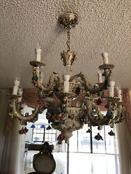 Capodimonte Chandelier 12 lights