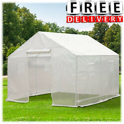 Greenhouse Ventilated 10' x 9.5' x 8' Portable PE Cover Walk In Plant Outdoor