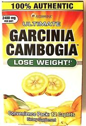 Authentic12Cap Ultimate Garcinia Cambogia  Lose Weight 2400mg PerDay Fat Burning