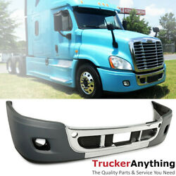 Complete Front Bumper Freightliner Cascadia 08-17 Chrome Trim with Fog Lamp Hole $701.00