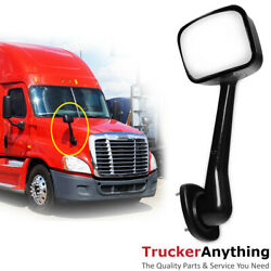 Hood Mirror Assy 08-18 Freightliner Cascadia Right Passenger Manual Front Black $49.41