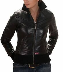 New Bomber Designer Online Discount Lambskin Leather Jacket For Women EHS W47
