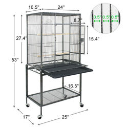 Bird Cage Large Play Top Bird Parrot Finch Cage Macaw Cockatoo Pet Supplies 53quot; $85.99