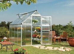 Big Green House Kit Hothouse Greenhouse Large Outdoor Building Vent 6 x 8 x 7 ft