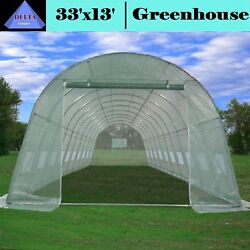Commercial Greenhouse Kit Large Heavy Duty Cottage Hothouse Green House 33 x 13'