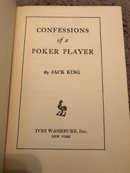 Confessions of a Poker Player By Jack King 1940 Hardcover