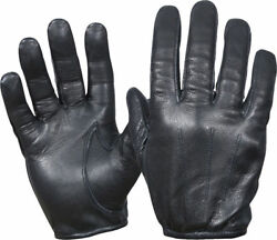 Gloves Leather Police Duty Search Shooting Driving Black Unlined XSSMLXL2XL $15.88