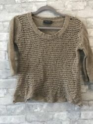Wooden Ships Paola Buendia Wool Blend Knit Sweater Womens Size S  M USED sz S M