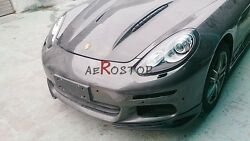 CARBON FIBER MS STYLE FRONT SPLITER COVER FOR 14- PANAMERA S 4S 970.2