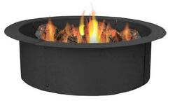 Campfire Ring Fire Pit Accessories Portable Steel 4 Piece Construction Yard Camp