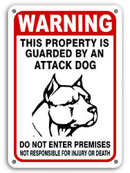 Guard Dog on Duty Signs Beware of Dog Sign Dogs Will Bite Attack Dog 10quot;x 14quot; $7.45