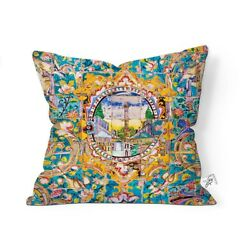 DECOTEEN handmade cushion cover printed on reach soft velvet with Concealed zip. $28.70