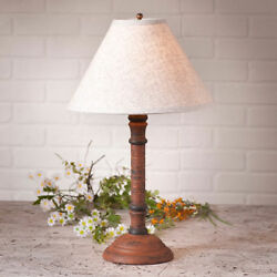 Gatlin Wood Table Lamp with Ivory Linen Shade in 6 Color Choices Country Lamp $163.83