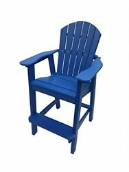 Phat Tommy Recycled Poly Resin Balcony Chair – Durable and Adirondack Patio F...