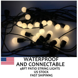 4 Pack 48 Foot Outdoor Patio String Lights LED Bulb Kits Wedding Christmas Party