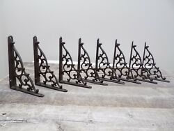 8 Antique Style Shelf Brace Wall Bracket Cast Iron Brackets Vine Garden Shed