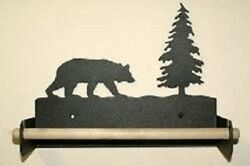 Bear Wall Paper Towel Holder - Rustic Wildlife Cabin Kitchen Decor Accessory