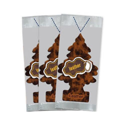 Little Trees Car Air Freshener 3 PACK Leather $5.46