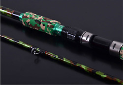Carbon 7- 8 Medium or Medium light Split EVA Grip 2 Piece Bass Baitcasting rod $75.00