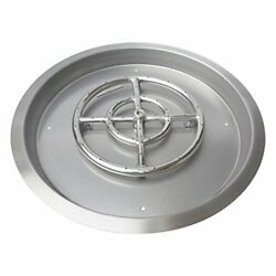 Stanbroil Stainless Steel Round Drop-In Fire Pit Burner Ring Pan 31-Inch