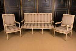High Quality Set Lounge Suite Sofa & 2 Chair in the Louis Seize Style