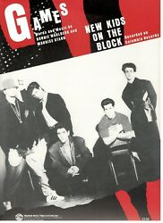 NEW KIDS ON THE BLOCK quot;GAMESquot; SHEET MUSIC PIANO VOCAL GUITAR CHORDS 1991 NEW $7.11