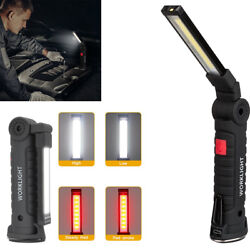 COB LED Rechargeable Work Light Magnet Flashlight with Hook Folding Torch Lamp $12.47