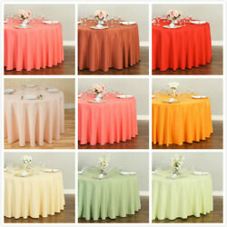 LinenTablecloth 108 in. Round Polyester Tablecloths 33 Colors! $6.95