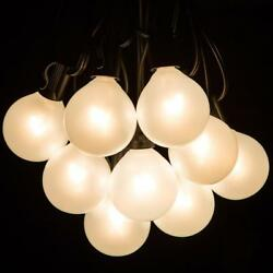 Hometown Evolution Inc. White Pearl Outdoor Patio Globe String Lights (100...