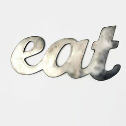 Rustic Home Eat Sign Metal Words Kitchen Wall Decor Home Decor Farmhouse $25.99