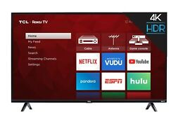 TCL 55 inch 4K Ultra HD HDR Roku Smart TV with 3 x HDMI 2019 Model 55S425 $349.99