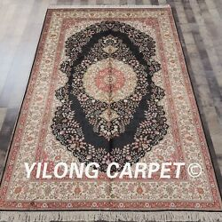 YILONG 5'x8' Hand knotted Silk Persian Carpet Traditional Indoor Rug L43B