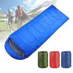Ultralight Adult Single Envelope Sleeping Bag Camping Hiking w Carrying Bag