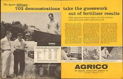1959 LARGE 2 Page Print Ad of The American Agricultural Chemical Co 703 Agrico $9.99