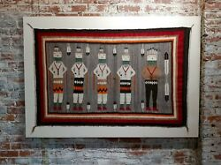 Navajo Vintage Yei be Chei Pictorial Rug -Hand Woven Wool -c1920s